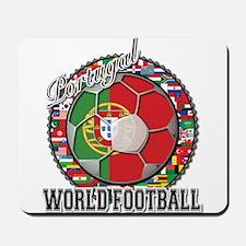 Portugal Flag World Cup Footb Mousepad