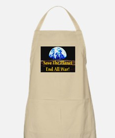 Save The Planet End All War G BBQ Apron