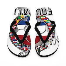 Netherlands Flag World Cup Fo Flip Flops