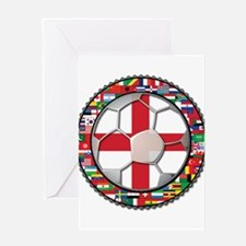 England Flag World Cup Footba Greeting Card