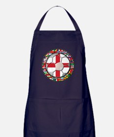 England Flag World Cup Footba Apron (dark)