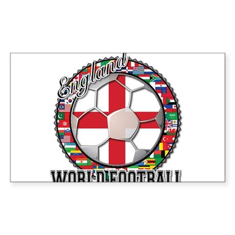 England Flag World Cup Footba Sticker (Rectangle 5