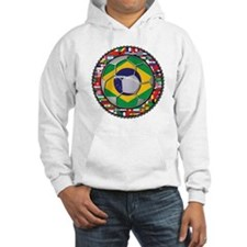 Brazil Flag World Cup Footbal Hoodie