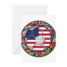 United States Flag World Cup Greeting Card
