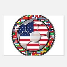 United States Flag World Cup Postcards (Package of