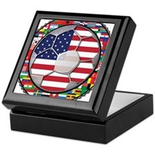 United States Flag World Cup Keepsake Box