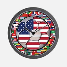 United States Flag World Cup Wall Clock
