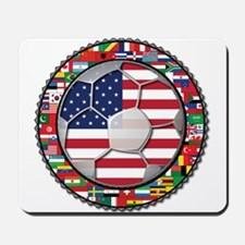 United States Flag World Cup Mousepad