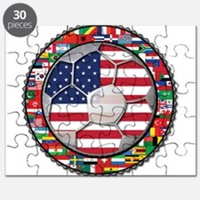 United States Flag World Cup Puzzle