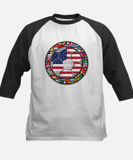 United States Flag World Cup Kids Baseball Jersey