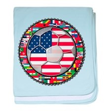 United States Flag World Cup baby blanket