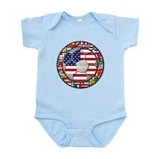 United States Flag World Cup Infant Bodysuit