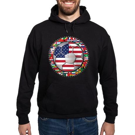 United States Flag World Cup Hoodie (dark)