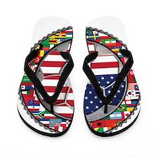 United States Flag World Cup Flip Flops