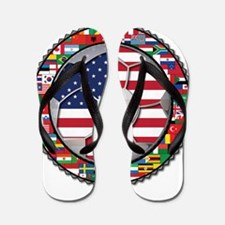 United States Flag World Cup Flip Flops