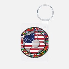 United States Flag World Cup Keychains