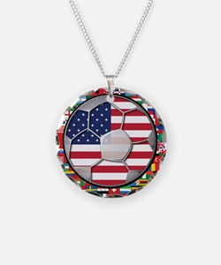 United States Flag World Cup Necklace