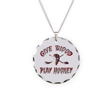 Give Blood Play Hockey Necklace