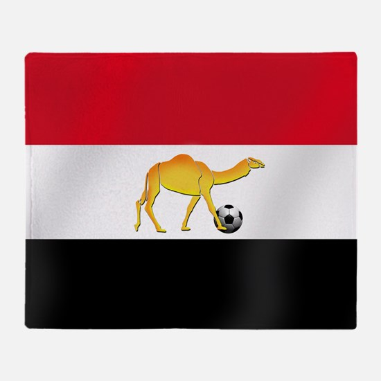 Egyptian Camel Flag Throw Blanket