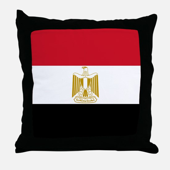 Flag of Egypt Throw Pillow