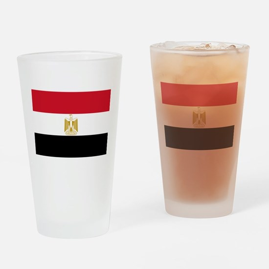 Flag of Egypt Drinking Glass