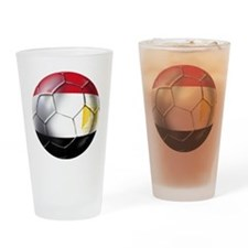 Egyptian Soccer Ball Drinking Glass