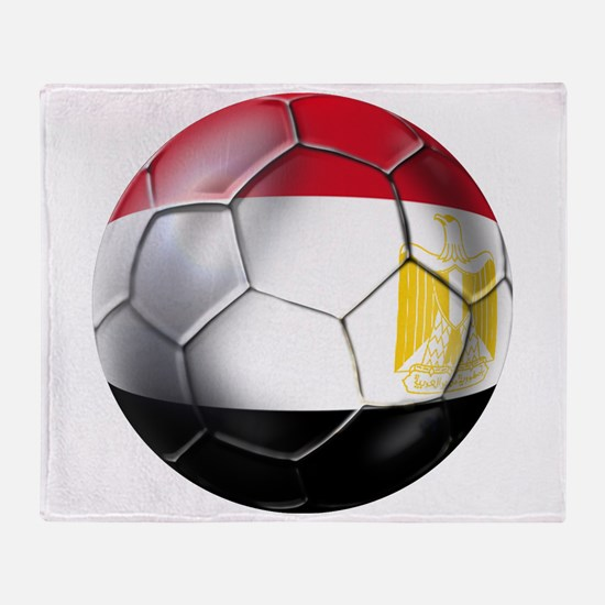 Egyptian Soccer Ball Throw Blanket