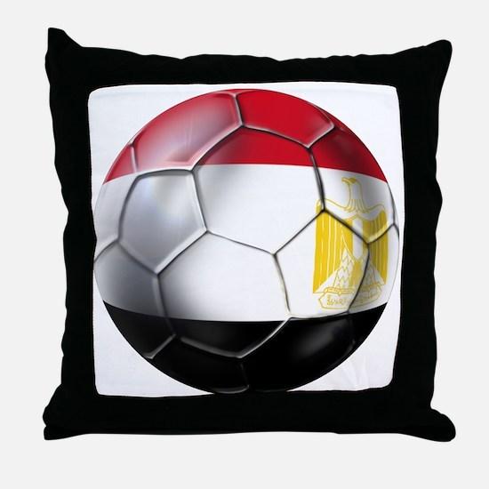 Egyptian Soccer Ball Throw Pillow