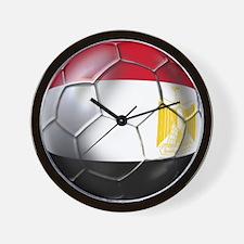 Egyptian Soccer Ball Wall Clock