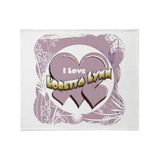 I Love Loretta Lynn Throw Blanket