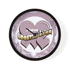 I Love Loretta Lynn Wall Clock