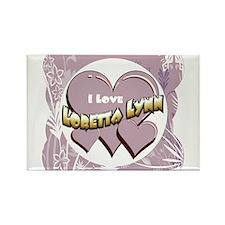 I Love Loretta Lynn Rectangle Magnet
