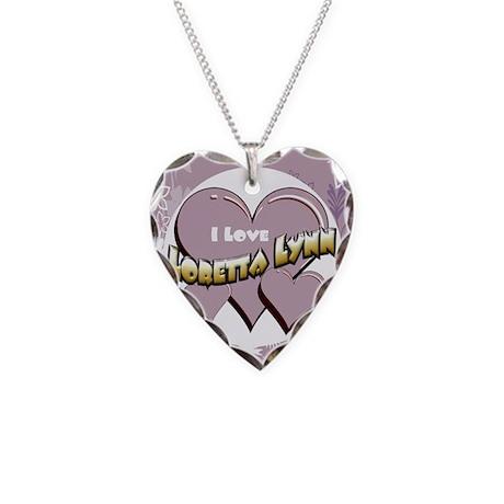 I Love Loretta Lynn Necklace Heart Charm