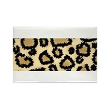Leopard Print Pattern Rectangle Magnet (10 pack)