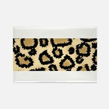 Leopard Print Pattern Rectangle Magnet (10 pack)