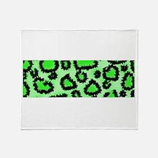 Bright green animal print Throw Blanket