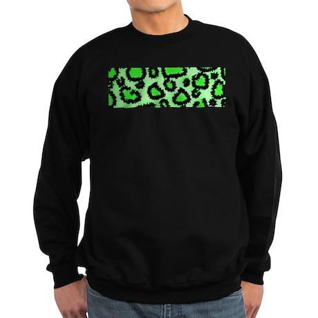 Bright green animal print Sweatshirt (dark)