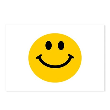 Yellow Smiley Face Postcards (Package of 8)