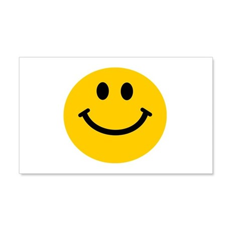 Yellow Smiley Face 22x14 Wall Peel