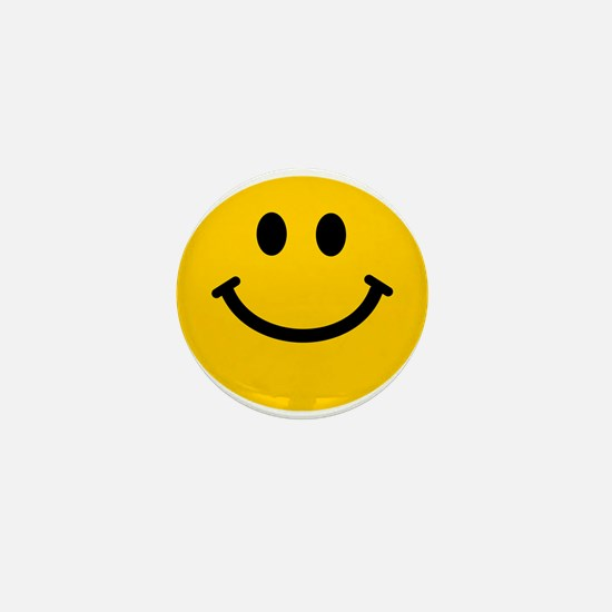 Yellow Smiley Face Mini Button