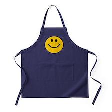 Yellow Smiley Face Apron (dark)