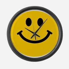 Yellow Smiley Face Large Wall Clock