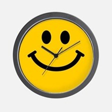 Yellow Smiley Face Wall Clock