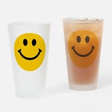 Yellow Smiley Face Drinking Glass