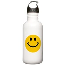 Yellow Smiley Face Sports Water Bottle
