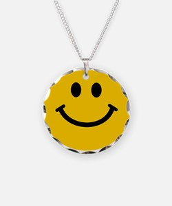 Yellow Smiley Face Necklace