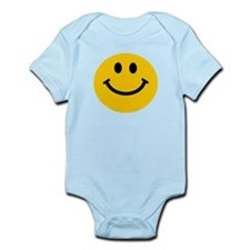 Yellow Smiley Face Infant Bodysuit