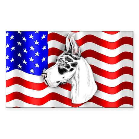 Patriot Dane Harlequin Rectangle Sticker
