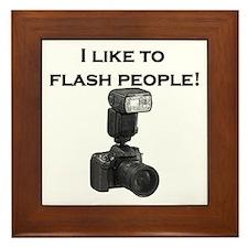 I like to flash people- Framed Tile