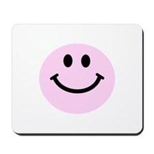 Pink Smiley Face Mousepad